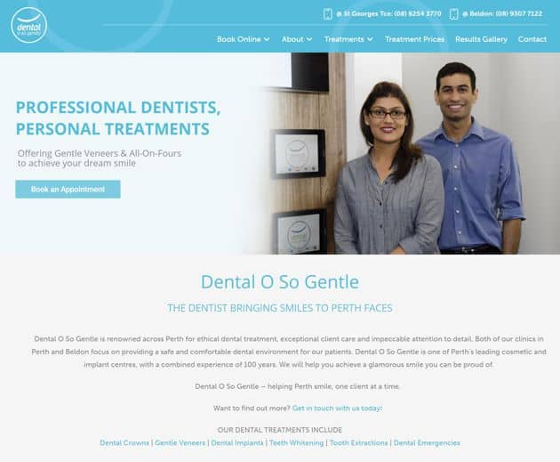 SEO Case Study for Dental O So Gentle